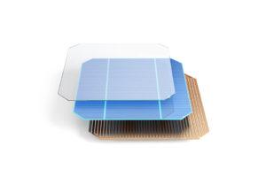 Explosionsgrafik Solarzelle