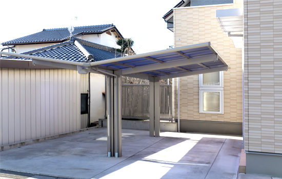 Haus mit Solar-Carport