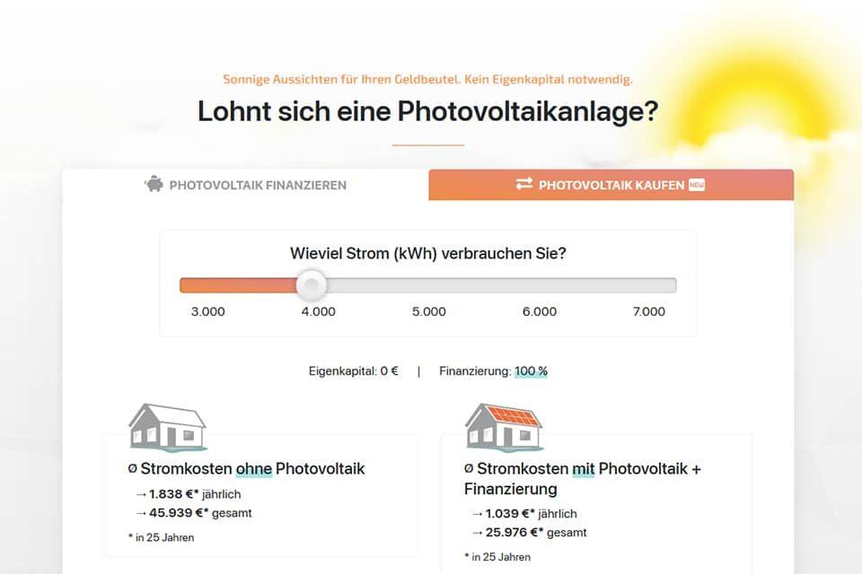 Der PEC Photovoltaik-Rechner
