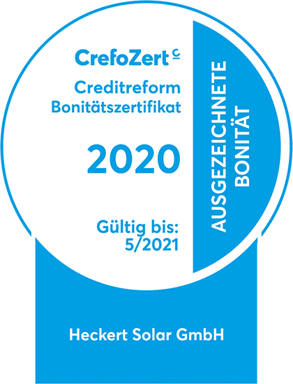 CrefoCert 2020 Heckert Solar GmbH Chemnitz